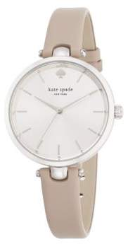 Kate Spade Holland Stainless Steel Leather Strap Watch