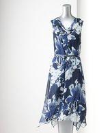 Vera Wang Simply vera floral chiffon dress