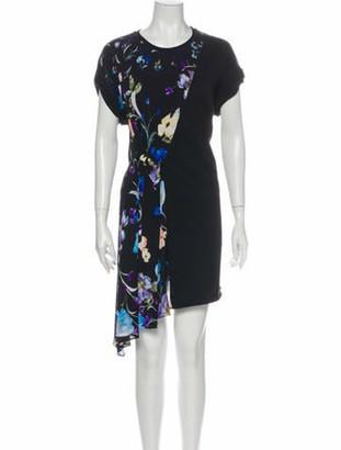 3.1 Phillip Lim Floral Print Mini Dress w/ Tags Black