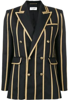 Saint Laurent braided stripe blazer