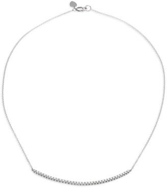 Meira T Diamond & 14K White Gold Chain Necklace