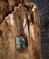 Eye Candy La Eye Candy LA Women's Necklaces Dakr - Abalone & Hematite Wire-Wrapped Tree Pendant Necklace