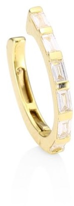 Ef Collection Diamond & 14K Yellow Gold Baguette Earcuff