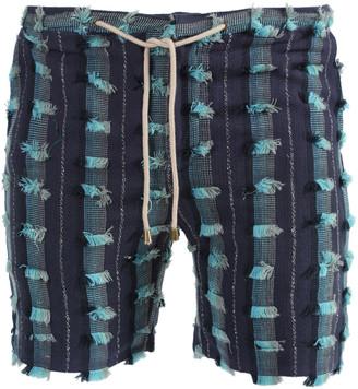 Thorsun Blue Distressed Lounge Shorts