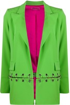 Ireneisgood ring-embellished split blazer