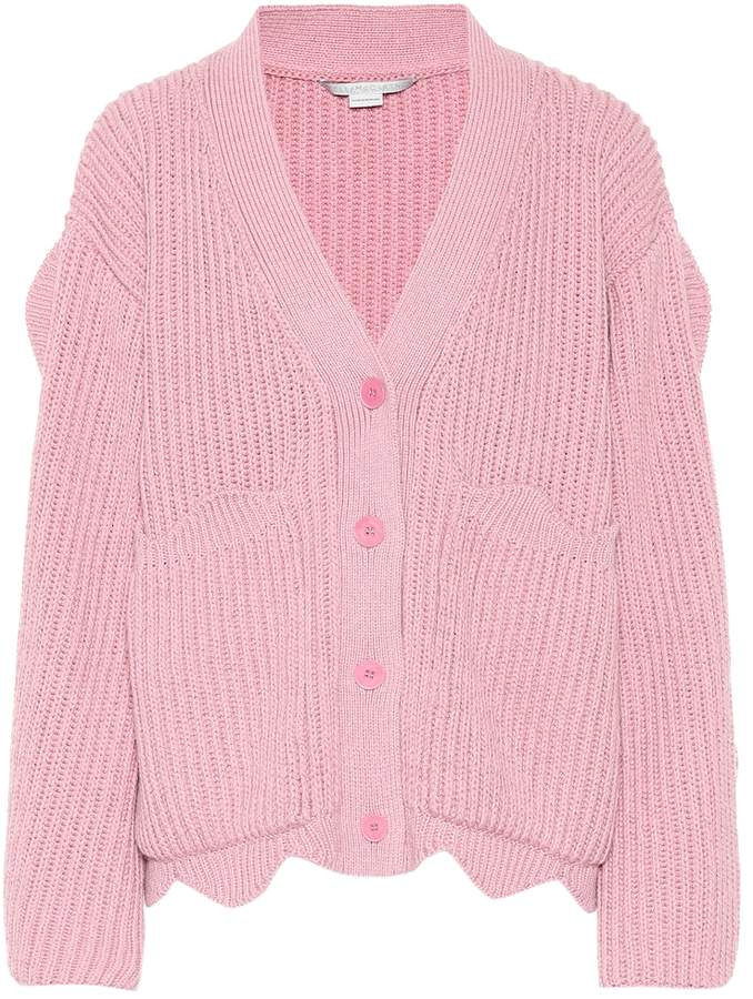 Stella McCartney Scalloped cotton-blend cardigan