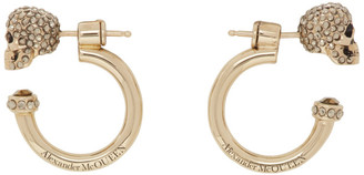 Alexander McQueen Gold Small Skull Hoop Earrings