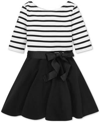 Polo Ralph Lauren Toddler Girls Striped Jersey-Ponte Dress
