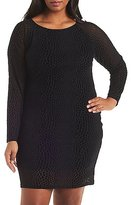 Charlotte Russe Plus Size Flocked Velvet Bodycon Dress
