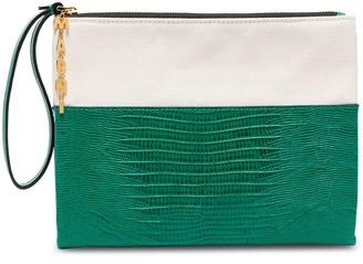 Marni lizard effect clutch bag