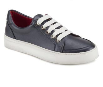 Cara Metallic Blue Sneaker