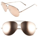 Linda Farrow Women's 64Mm Aviator Sunglasses - Rose Gold