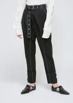 Proenza Schouler Black Cuffed Belted Pants