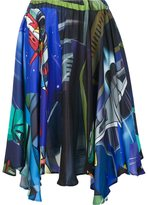 Julien David printed draped skirt - women - Silk - M