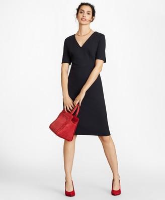 Brooks Brothers Petite Ponte Knit Elbow-Sleeve Sheath Dress