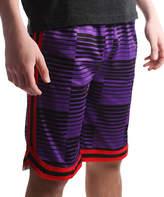 Purple & Red Stripe Shorts - Boys