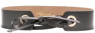 Blumarine Leather Lace-Up Belt