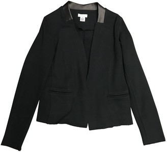 Barneys New York Black Cotton Jacket for Women