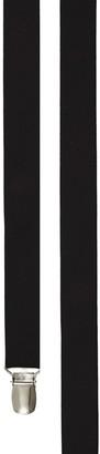 Tie Bar Grosgrain Solid Black Suspender