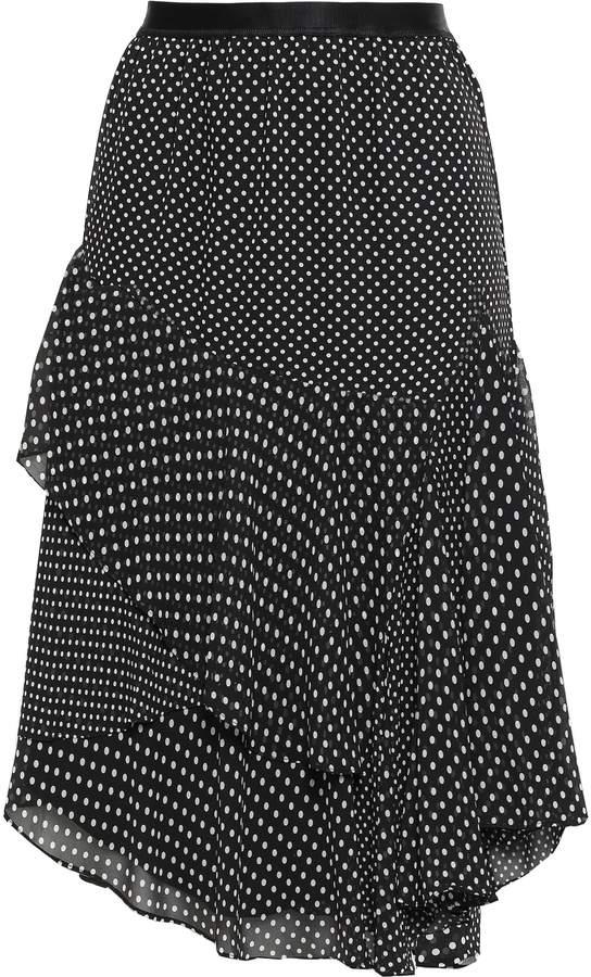 Joie (ジョア) - Joie ラッフル付き ポルカドットクレープ スカート