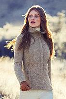 Classic Women's Petite Sweater Fleece Jacket-Cranapple Heather
