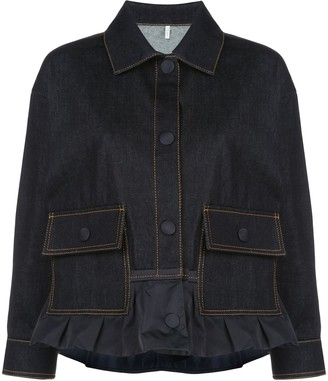 Moncler Button-Up Denim Jacket