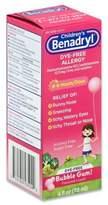 Benadryl Children's 4 oz. Dye-Free Allergy Liquid in Bubble Gum