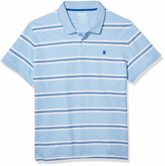 Izod Men's Fit Advantage Performance Short Sleeve Stripe Polo