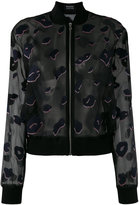 Markus Lupfer sheer jacket - women - Silk/Cotton/Polyamide/glass - S