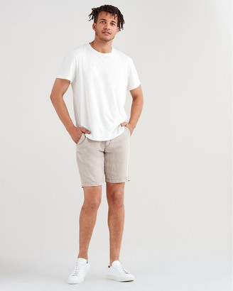 7 For All Mankind 10'' Inseam Chino Short in Stone