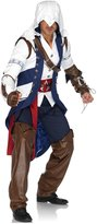 Leg Avenue Men's Assassin's Creed 5 Piece Connor Deluxe Costume Cosplay, White