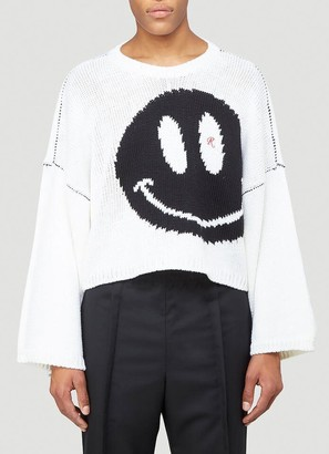 Raf Simons Smiley Face Knitted Sweater