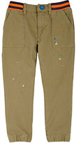 Billy Bandit Paint-Splattered Cotton Twill Pants-GREEN