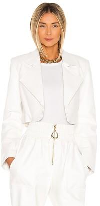 Divine Heritage x REVOLVE Faux Leather Cropped Blazer