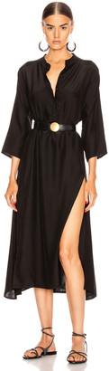 Natalie Martin Isobel Dress in Black Silk   FWRD