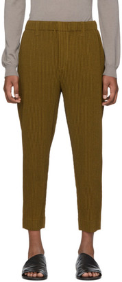Homme Plissé Issey Miyake Yellow Wool-Like Light Trousers