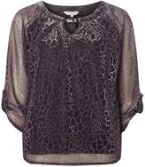 Dorothy Perkins **Billie & Blossom Tall Purple Two Tone Blouse
