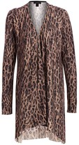 Saks Fifth Avenue Leopard-Print Cashmere Cardigan
