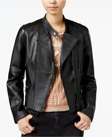 Bar III Leather Moto Jacket, Only at Macy's