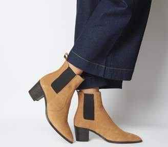 Office Autumn Smart Western Boots Tan Suede