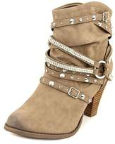 Not Rated Swazy Women Round Toe Synthetic Brown Ankle Boot.
