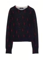 KATE MOSS FOR EQUIPMENT Ryder Crew Neck Lightning Bolt Sweater