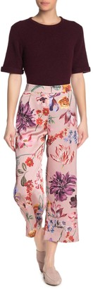J.Crew Blush Floral Print Wide Leg Pants