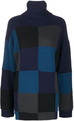 Givenchy Checked Cashmere Turtleneck Jumper