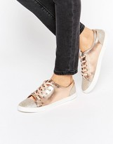 Lipsy Metallic Glitter Toecap Sneakers