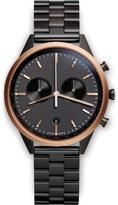 Uniform Wares Men's C41 Pvd Black Linked Bracelet Wristwatch Black