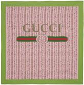 Gucci - Foulard en soie rose Flowers