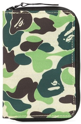 A Bathing Ape Camouflage Zipped Wallet