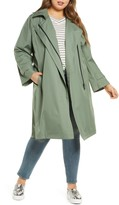 Bernardo Hooded Windproof & Water Resistant Trench Coat