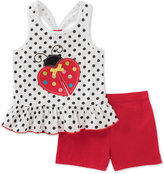 Kids Headquarters 2-Pc. Ladybug Peplum Top & Shorts Set, Baby Girls (0-24 months)